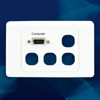 Wall Plate VGA and 4 Ports Includes blank inserts