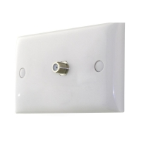 Wall Plate Single Entry F Type