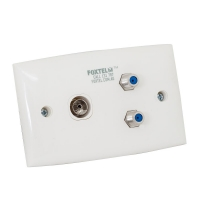 Wall Plate 2 X F to F & 1 F to PAL Foxtel Approved #F30551