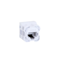 Amdex White CAT5e Wall Plate Mech