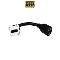 Wall Plate Mechanism Premium HDMI 10cm Tail 4K