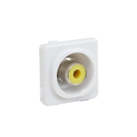 Wall Plate Mechanism Insert RCA Solder CLIPSAL Type Yellow