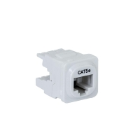 Wall Plate Mechanism Premium CAT5e White