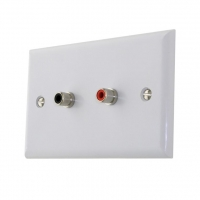 Wall Plate 2x RCA to Solder