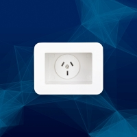 Wall Plate Recessed with GPO and Punch Out Side Hole - Click for more info