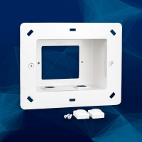Recessed Wall Plate for Wall Plates & 2 Punch Out Ports for Mech Inserts