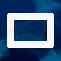 Wall Plate Recessed for Wall Plates and 2 Punch Out Ports for Mechanical Inserts